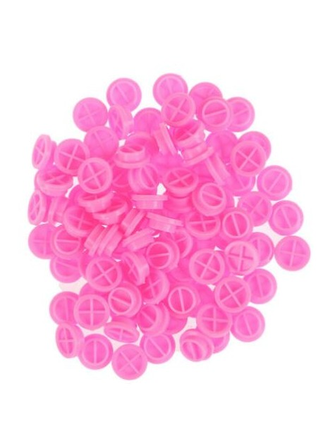 Pink Blossom Cups (80ct) with Medium Disposable Silicone Glue Ring Holders Beige (10ct)