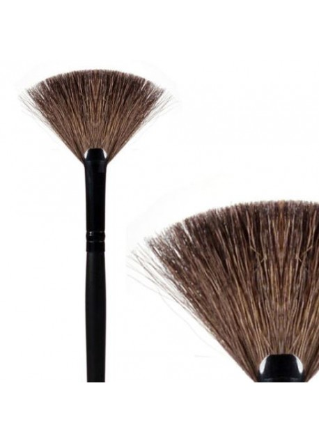 Fan Brush For Loose Eyelash Extensions Extra Soft Goat Hair