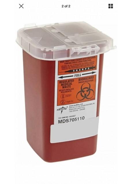 Sharps Container Biohazard Needle Disposal Tattoo 1 Quart