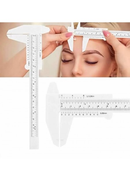 Plastic Microblading Tattoo Eyebrow Permanent Makeup Stencil Ruler Caliper Tool