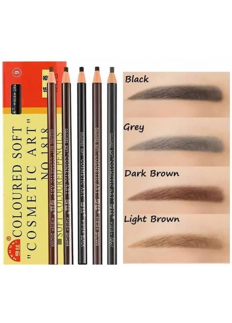 Makeup Eyebrow Tattoo Pencil Peel-Off Brow Liners for Marking (1 ct)