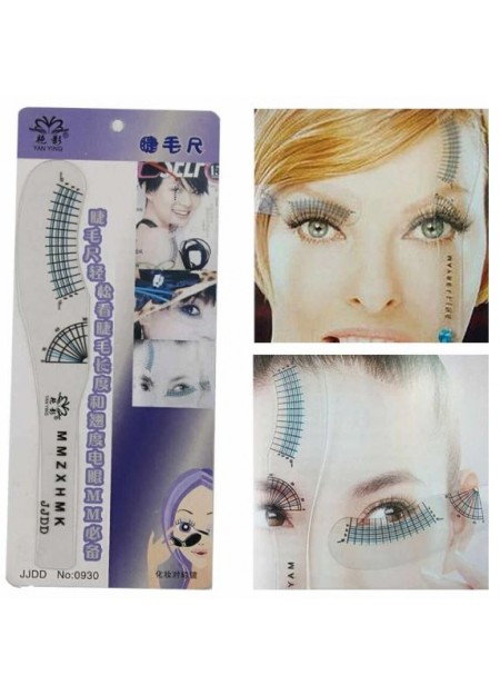 Plastic Microblading Tattoo Eyebrow Permanent Makeup Stencil Measuring Ruler